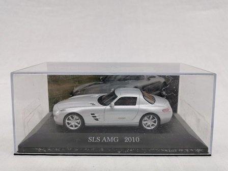 Mercedes-Benz SLS AMG 2010 Zilver 1-43 Altaya Mercedes Collection