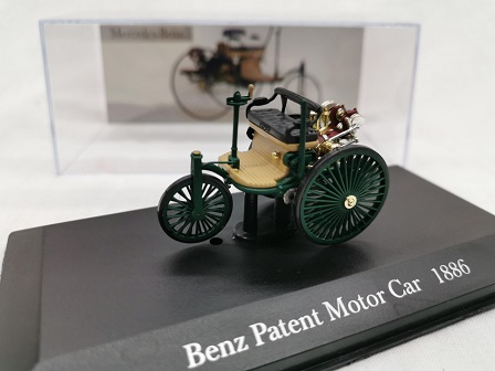 Mercedes-Benz Patent Motor Car 1886 Groen 1-43 Altaya Mercedes Collection