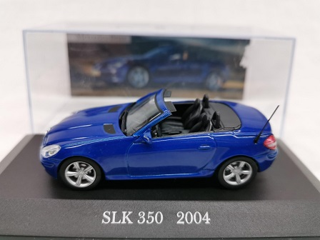 Mercedes-Benz SLK 350 ( R171 ) 2004 Blauw 1-43 Altaya Mercedes Collection