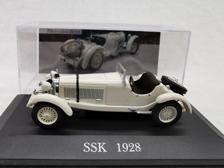Mercedes-Benz SSK 1928 Wit 1-43 Altaya Mercedes Collection