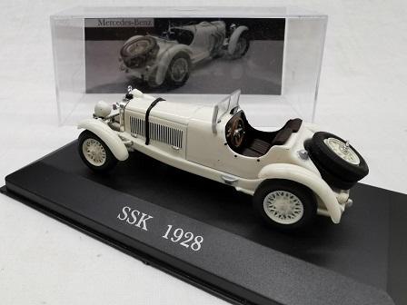 Mercedes-Benz SSK 1928 Wit 1-43 Altaya Mercedes Collection
