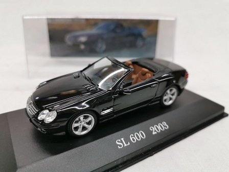 Mercedes-Benz SL 600 2003 Zwart 1-43 Altaya Mercedes Collection