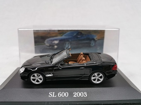 Mercedes-Benz SL 600 2003 Zwart 1-43 Altaya Mercedes Collection