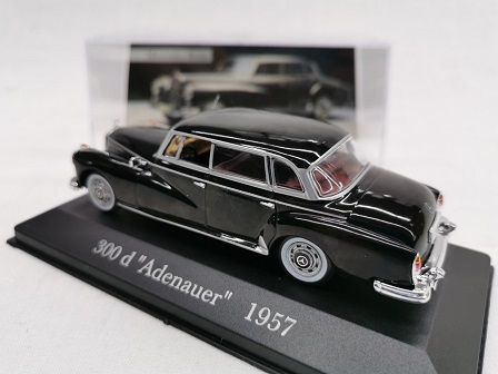 "Mercedes-Benz 300 D ""Adenauer"" 1957 Zwart 1-43 Altaya Mercedes Collection"