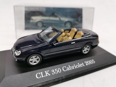 Mercedes-Benz CLK 350 Cabriolet 2005 Blauw 1-43 Altaya Mercedes Collection