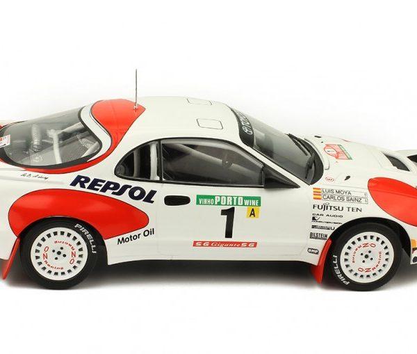 Toyota Celica GT-Four ST 185 # 1 Rally Portugal 1992 C.Sainz / L.Moya Wit / Rood 1/18 Ixo Models