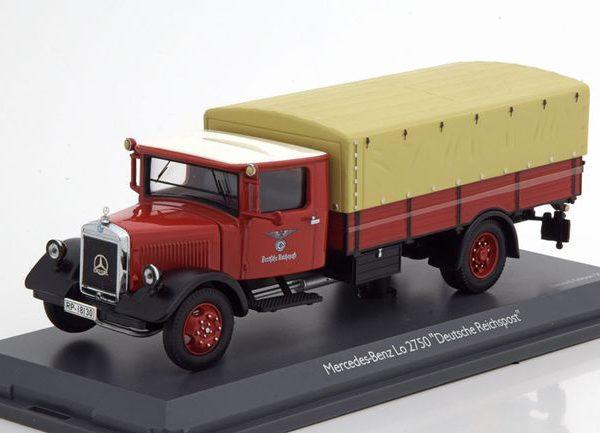 """Mercedes-Benz LO 2750 """"Deutsche Reichpost"""" Rood 1-43 Schuco"""