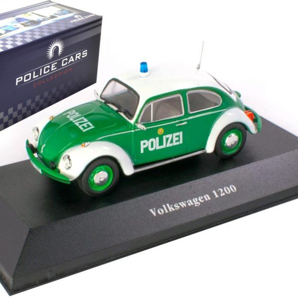 Volkswagen Kever 1200 Polizei 1977 Groen/ Wit 1-43 - Atlas Police Collection