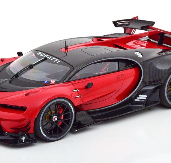 Bugatti Vision GT 2015 Italian Rood / Zwart Carbon 1-18 Autoart