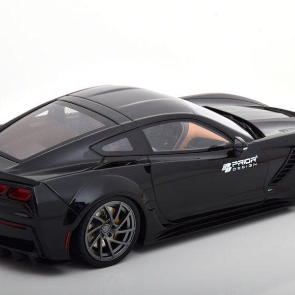 """Chevrolet Corvette C7 2017 """"Prior Design"""" Zwart 1-18 GT Spirit Limited 999 Pieces"""
