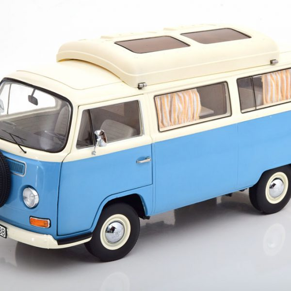 Volkswagen T2A Camping Bus Blauw / Creme 1-18 Schuco Limited 1000 Pieces