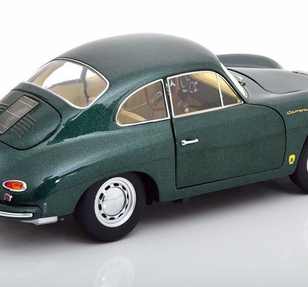 Porsche 356 A Carrera Coupe Donkergroen Metallic 1-18 Schuco