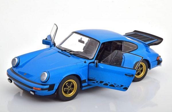 Porsche 911 Carrera 3.0 Coupe 1984 Blauw 1-18 Solido