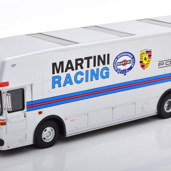 "Mercedes-Benz O317 ""Porsche Renntransporter"" Martini 1968 Zilver 1-43 Schuco Limited"
