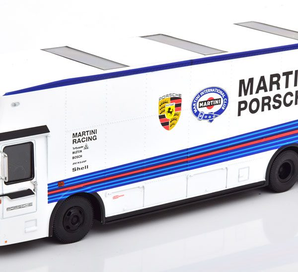 "Mercedes-Benz O317 ""Porsche Renntransporter""Martini Wit 1-43 Schuco Limited"