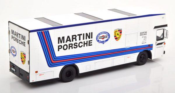 """Mercedes-Benz O317 """"Porsche Renntransporter""""Martini Wit 1-43 Schuco Limited"""