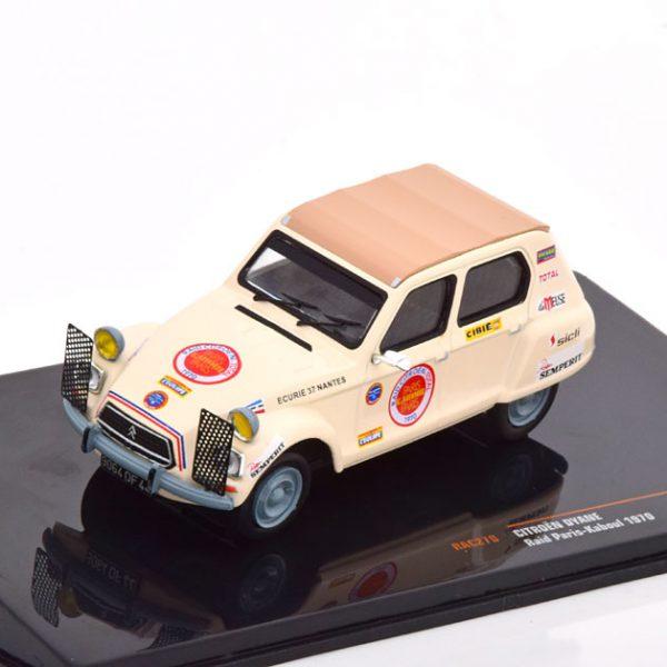 Citroen Dyane Rally Paris - Kaboul 1970 Beige 1-43 Ixo Models