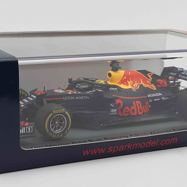 Aston Martin Red Bull RacingRB15 Winner Austrian GP 2019 Max Verstappen 1-43 Spark