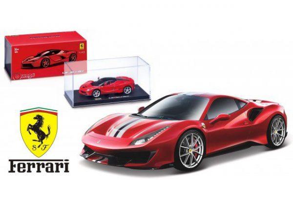 Ferrari 488 Pista Rood / Zwarte Velgen 1-43 Burago Signature Series