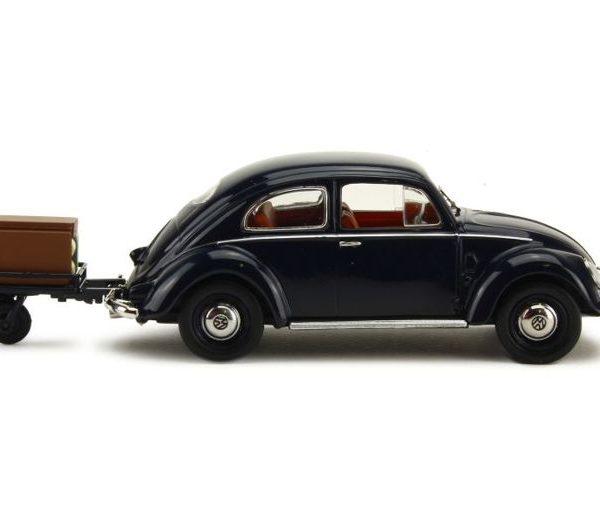 Volkswagen Kever met aanhanger Zwart 1-43 Schuco Limited Edition of 750 pcs.