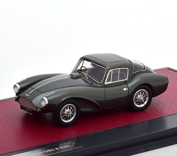 Aston Martin DB3S FHC 1956 Metallic Groen 1-43 Matrix Scale Models Limited 408 pcs.