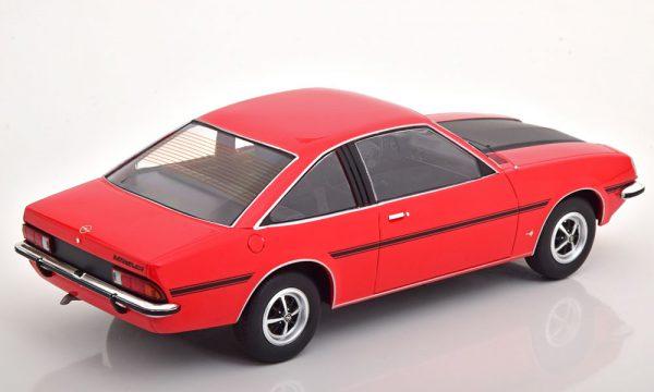 Opel Manta B SR 1975 Rood / Zwart 1-18 MCG Models