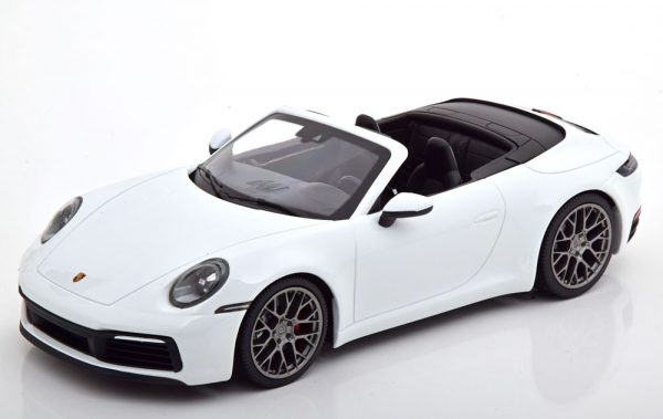 Porsche 911 (992) Carrera 4S Cabrio 2019 Wit 1-18 Minichamps Limited 504 Pieces