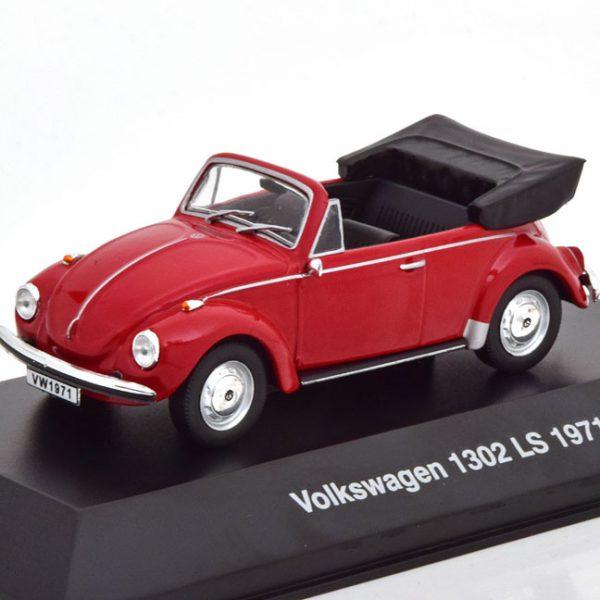 Volkswagen Kever 1302 LS 1971 Cabriolet Rood 1-43 Altaya Volkswagen Collection
