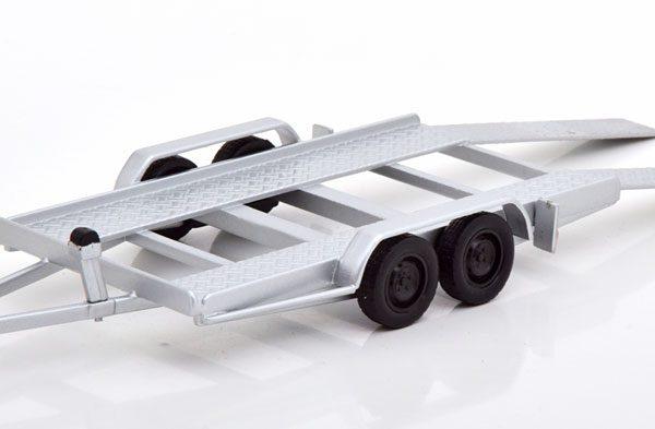 Car Trailer Zilver 1-43 Ixo Models