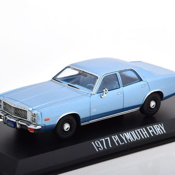 "Plymouth Fury 1977 ""Christine"" Blauw Metallic 1-43 Greenlight Collectibles"