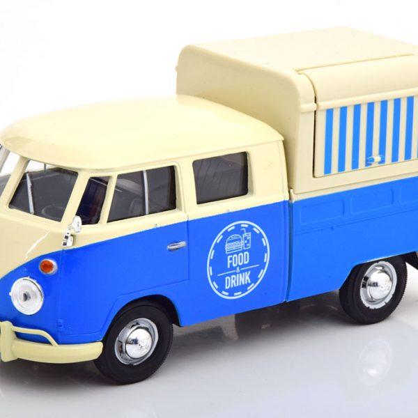 """Volkswagen T1 Pritsche """"Food Truck"""" Blauw / Beige 1-24 Motormax"""