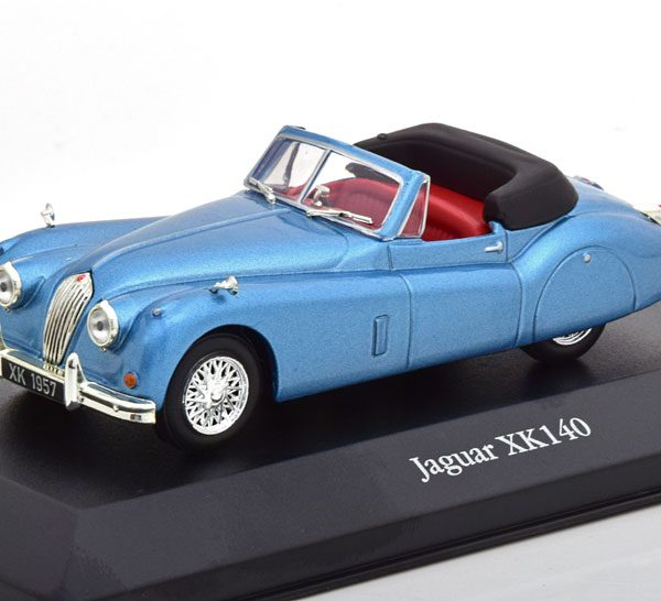 Jaguar XK140 1957 Blauw Metallic 1-43 Atlas