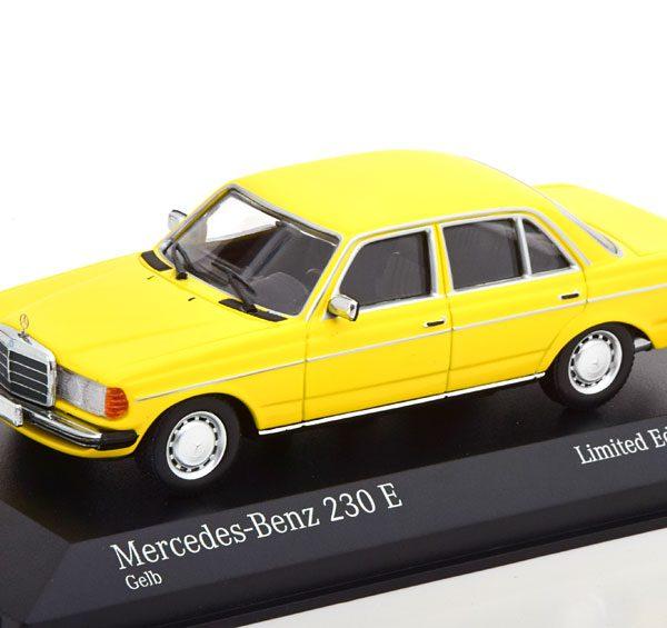 Mercedes-Benz 230E ( W123 ) Limousine 1982 Geel 1-43 Minichamps Limited 500 Pieces