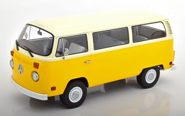 "Volkswagen Bus T2 ""Little Miss Sunshine"" 1978 Geel / Beige 1-18 Greenlight Collectibles"
