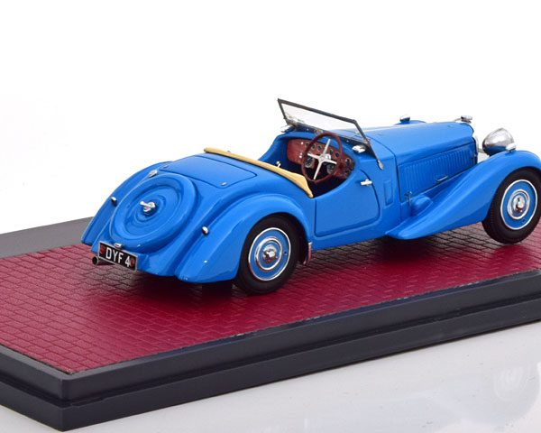 Bugatti T57S Roadster Malcolm Campbell 1937 Blauw 1-43 Matrix Scale Models Limited 408 pcs.