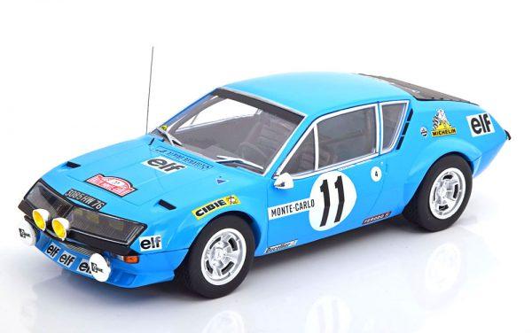 Renault Alpine A310 No.11, Rally Monte Carlo 1975 Warmbold/Davenport Blauw 1-18 Ixo Models