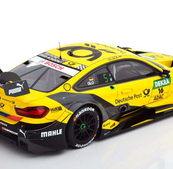 BMW M4 No.16, DTM 2018 Glock 1-18 Geel Minichamps Limited 300 Pieces