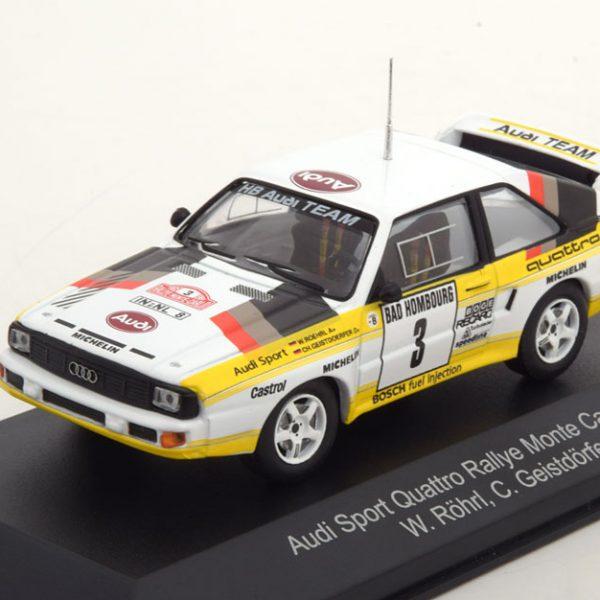 Audi Sport Quattro No.3, Rally Monte Carlo 1985 Röhrl/Geistdörfer 1-43 CMR Models