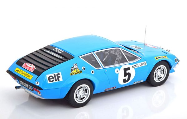 Renault Alpine A310 No.5, Rally Monte Carlo 1975 Therier/Vial Blauw 1-18 Ixo Models