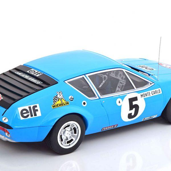 Renault Alpine A310 No.5, Rally Monte Carlo 1975 Therier/Vial Blauw 1-18 Ixo Models