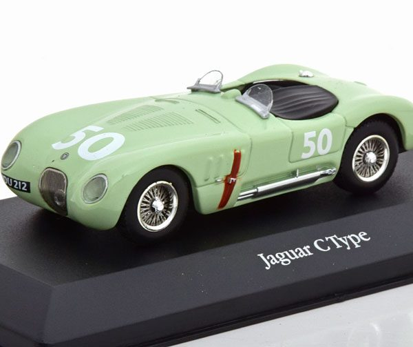 Jaguar C-Type No.50, GP Reims 1952 Stirling Moss Groen 1-43 Atlas