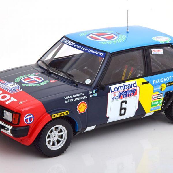 Talbot Sunbeam Lotus No.6, RAC Rally 1982 Blomqvist/Cederberg 1-18 Ixo Models