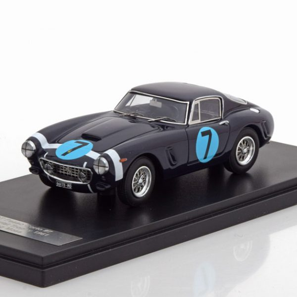 Ferrari 250GT Passo Corto Winner RAC Tourist Trophy Moss #7 1961 Blauw 1-43 Matrix Scale Models Limited 408 pcs.