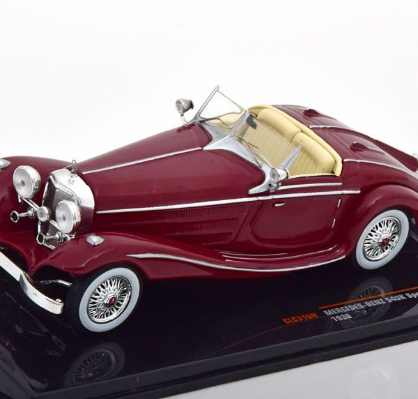 Mercedes Benz 540K Special Roadster 1936 Bordeaux Rood 1-43 Ixo Models