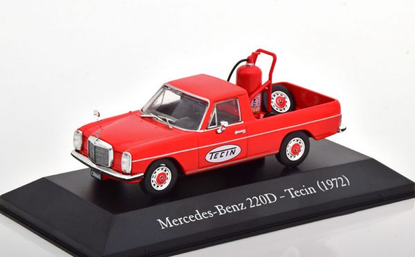Mercedes-Benz 220D/8 ( W115 ) Tecin 1972 Rood 1-43 Altaya Mercedes