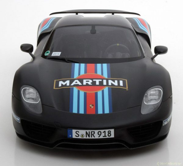 "Porsche 918 Spyder Weissach Package ""Martini"" Matzwart 1-12 GT Spirit Limited 500 Pieces"