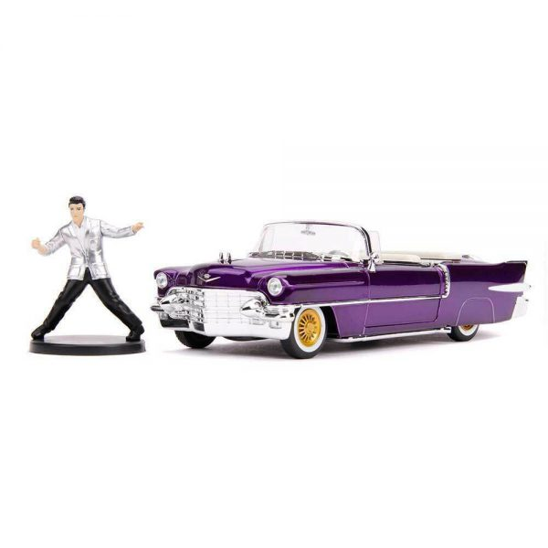 Cadillac Eldorado 1956 with Elvis Presley Figure Candy Purple 1:24 Jada Toys