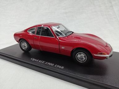 Opel GT 1900 1969 Rood 1-24 ( Metaal )Altaya