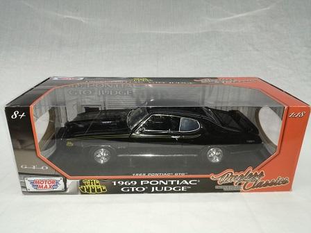 Pontiac GTO Judge 1969 Zwart 1-18 Motormax