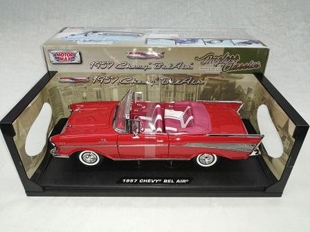 Chevrolet Bel Air 1957 Cabriolet Rood 1-18 Motormax